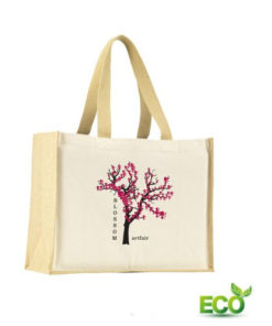 Jute Canvas Shopper